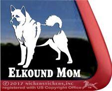 Elkhound Mom  High Quality Norwegian Elkhound Vinyl Dog Window Decal Sticker