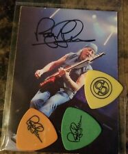 Deep Purple, Roger Glover Pick Set And Signed Photocard