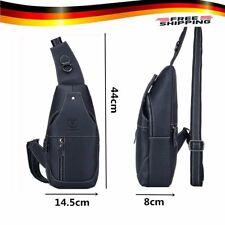 Echt Leder Brust Schulter Umhängetasche Herrentasche Sling Bag Vintage Purse