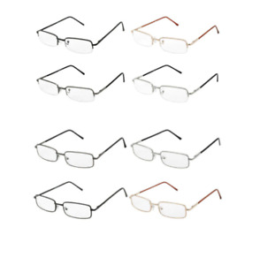 Reading Glasses Mens Spring Hinge Italian Designer Readers New 2 Pair Lot HSNR2