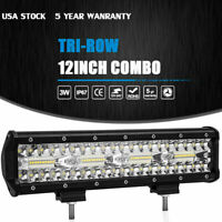"12"" inch 450W LED Work Light Bar Combo Spot Flood Driving Off Road SUV Boat ATV"