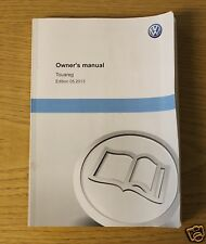 Genuine VW Touareg OWNERS MANUAL manuel 2010-2014 Livre