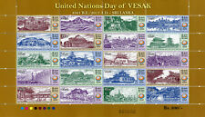 Sri Lanka 2017 neuf sans charnière ONU United Nations Vesak Bouddha Jour 20 V M/S temples timbres
