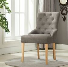 Linen Fabric Accent Dining Chair