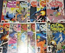 CLOAK & DAGGER #1-11 High Grade Full Set! Now in Their Own Marvel TV Show! 1985