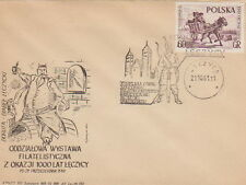 Poland postmark LECZYCA - civic rights millennium knight devil (analogous)