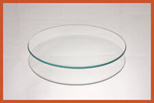 """6"""" Round Clear """"BENT"""" Glass Plate 1/8"""