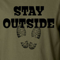 STAY OUTSIDE camping hiking camp summer outdoors lifestyle vacation T-Shirt