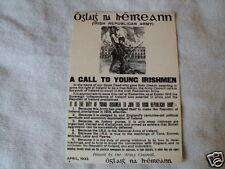IRISH REPUBLICAN A CALL TO YOUNG IRISH MEN ARMY COUNCIL POSTCARD COLLECTORS