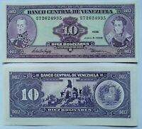 VENEZUELA 10 bolivares 1995; P-61d. Plancha UNC.