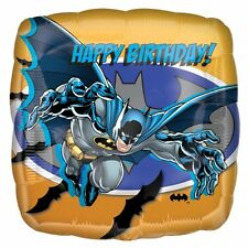 "Batman Superhero Party Decoration 18"" Square Happy Birthday Foil Balloon"