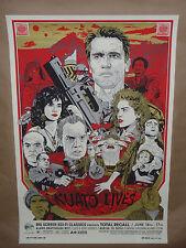 SIGNED Total Recall Tyler Stout movie poster print Alamo Drafthouse Mondo