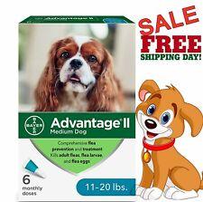 Bayer Advantage Ii Medium Dog Flea & Tick Treatment Control 6 Monthly Doses