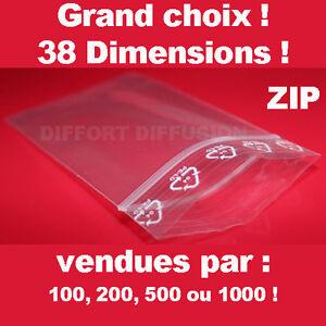 Lot de Sachet plastique fermeture ZIP Transparent bag pochon Pochette pression