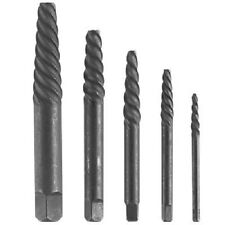 "5 Pc Spiral Screw Extractor Set Includes Bit Sizes 1/8"" 9/64"" 5/32"" 3/16"" 9/32"""