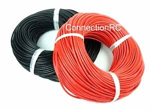 Silicone wire 16awg Red and Black Five Metres of each
