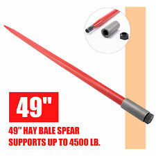 49in. Hay Bale Spike 4500lb Capacity Quick Attach for Truck Tractor Loader More