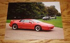 Original 1993 Lotus Esprit Turbo Sales Sheet Brochure 93