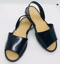 Women's Ladies Black Sling Back Sandals Size 5