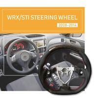 Carbon Steering Wheel D Shape For SUBARU WRX STI IMPREZA FORESTER 2008-2014