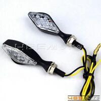 Clear Lens Aluminum LED Turn Signal Light Blinker Lamp For Motorcycle Dirt Bikes