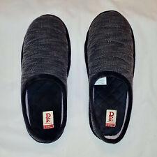 DearFoams Men's Black Memory Foam Slippers Size Large 9-10