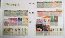 P263. Lot Timbres Oblitérés Malaisie. Malaya