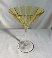 Ajka, fine Hungarian crystal martini/champagne glass. Original label. Vintage.