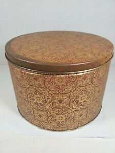 """Large Collectible Storage Tin from Swiss Colony Old World Cookies 8.5"""""""
