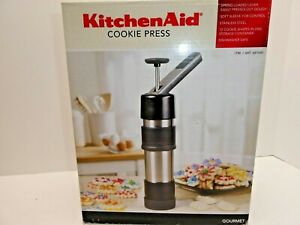 KitchenAid  Gourmet Cookie Press Stainless Steel Factory Sealed