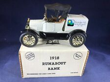 D3-97 ERTL 1:25 SCALE DIE CAST BANK - FORD 1918 RUNNABOUT - THUNDER HILLS GOLF