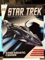 Star Trek Xindi-Aquatic Cruiser Model with Magazine #65 by Eaglemoss NEW LOOK!!
