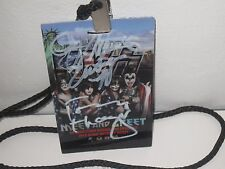KISS SIGNED VIP LAMINATE GENE SIMMONS END OF THE ROAD TOUR AUTOGRAPH PROOF