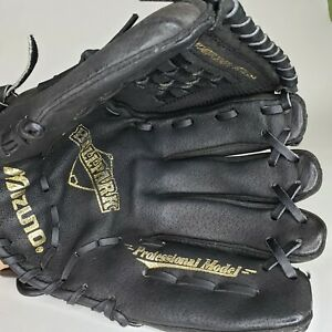 Youth Mizuno MMX 123P Black Leather Baseball Glove 12 Inches Professional Model