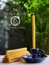 12x100% PURE BEESWAX candles. 20cm x  1cm ~ Eco-Friendly