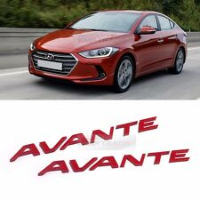 Side Front Trunk Mini Emblem Point Logo Badge Red for HYUNDAI 2017 Avante AD