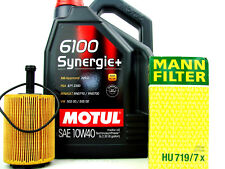 5liter 10w40 ACEITE DE MOTOR MOTUL 6100 Sinergia Filtro Mann HU719/7x CAMBIO
