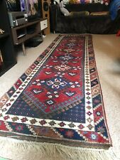 Long Turkish runner rug, 9'7x2'7 pure wool Double Knot. 294x80 Vintage Rare