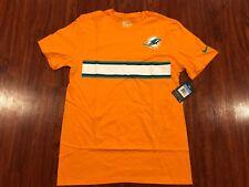 Nike Men's Miami Dolphins Football Color Rush Stripe Jersey Shirt Medium M NFL