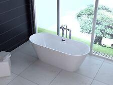 """1001 Now Lugano 67"""" White Modern Acrylic Seamless Soaking Bathroom Tub"""