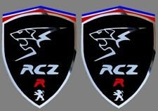 2 adhésifs sticker noir chrome PEUGEOT RCZ R (idéal ailes avant)