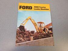 Ford 4500 Tractor Loader Backhoe Brochure                       lw