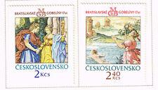 Czechoslovakia Art Famous Paintings Bratislava Gobelens stamps 1974 MLH