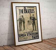 The Beatles 1965 First Shea Stadium Concert Poster Print Two Sizes NEW Exclusive