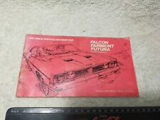 Vintage Ford Falcon Owners Manual Fairmont Futura XB 1973 Collectible