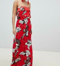 acc6ba70efc6 Pretty Little Thing Bird Print Maxi Red Dress - Size UK8 , BNWT