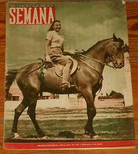 SEMANA #505 1949 Franco Futbol Atletico de Madrid/Sevilla magazine revista