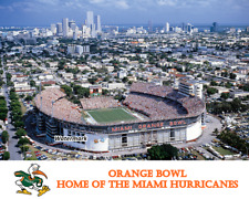 NCAA Aerial View Orange Bowl Home of the Miami Hurricanes Color 8 X 10 Photo