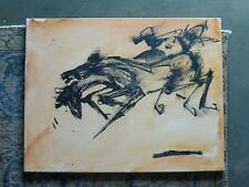 WILD HORSE PAINTING BY NEITH NEVELSON GRAND DAUGHTER TO LOUISE NEVELSON