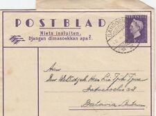 DUTCH EAST INDIES :1949 10c Letter Sheet to Batavia- BANDOENG